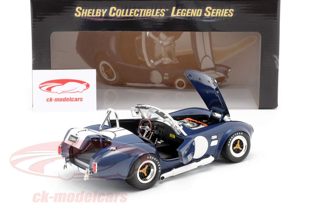 Shelby Cobra 427 S/C Baujahr 1965 blau / weiß 1:18 ShelbyCollectibles