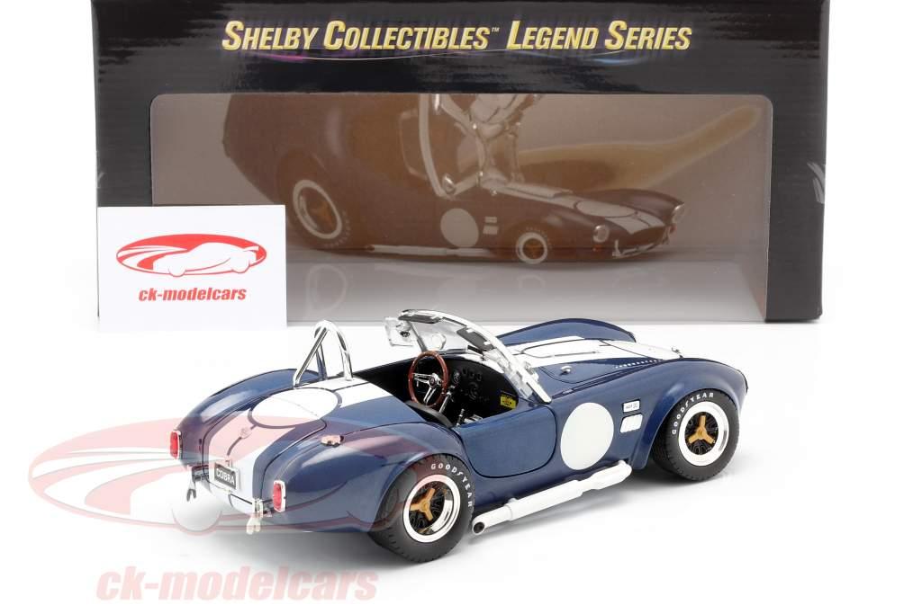 Shelby Cobra 427 S/C Année de construction 1965 bleu / blanc 1:18 ShelbyCollectibles