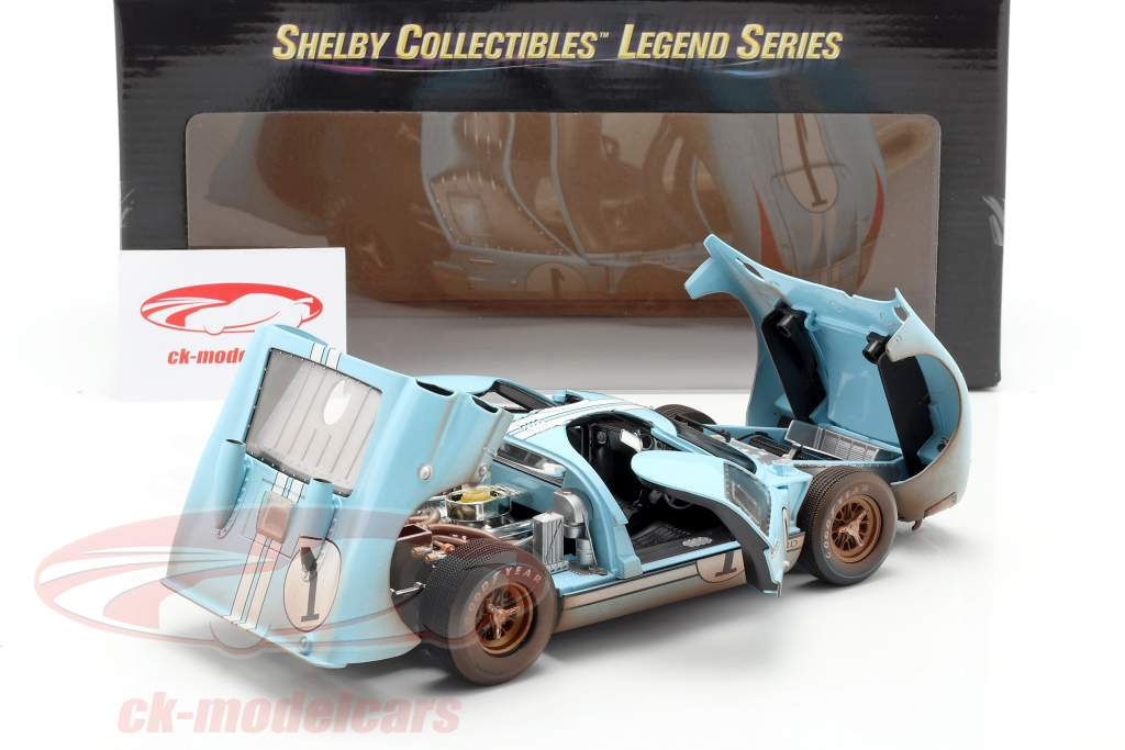 Ford GT40 MK II Dirty Version #1 2º 24h LeMans 1966 Miles, Hulme 1:18 ShelbyCollectibles