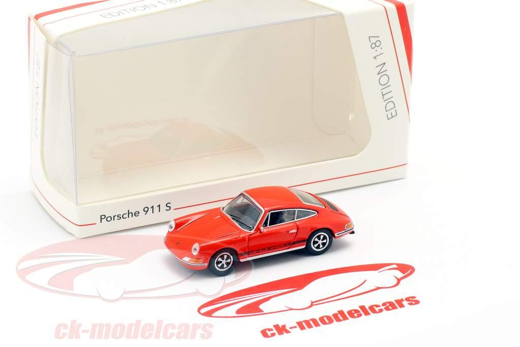 Porsche 911 S sangue laranja 1:87 Schuco