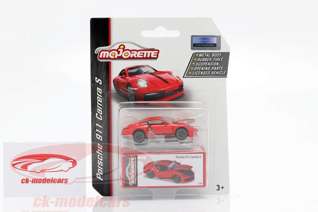 Porsche 911 Carrera S Feira de brinquedos Nuremberg 2020 vermelho 1:64 Majorette