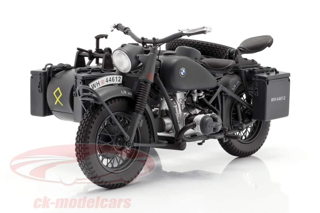BMW R75 Con sidecar Wehrmacht 1941-1944 gris oscuro 1:10 Schuco