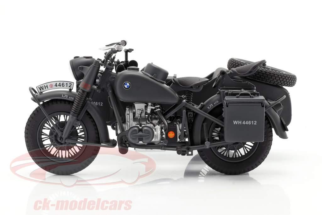 BMW R75 Met zijspan Wehrmacht 1941-1944 donkergrijs 1:10 Schuco