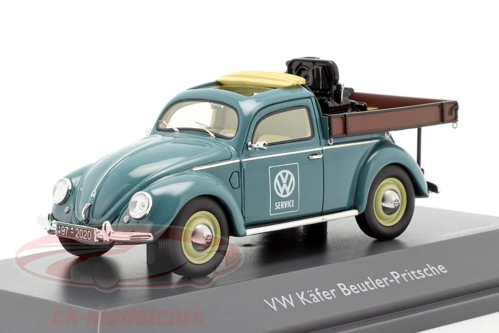 Volkswagen VW scarafaggio Piattaforma Beutler blu 1:43 Schuco