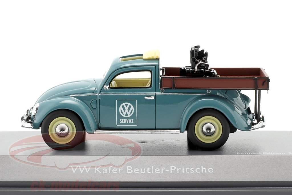 Volkswagen VW Bille Beutler platform blå 1:43 Schuco