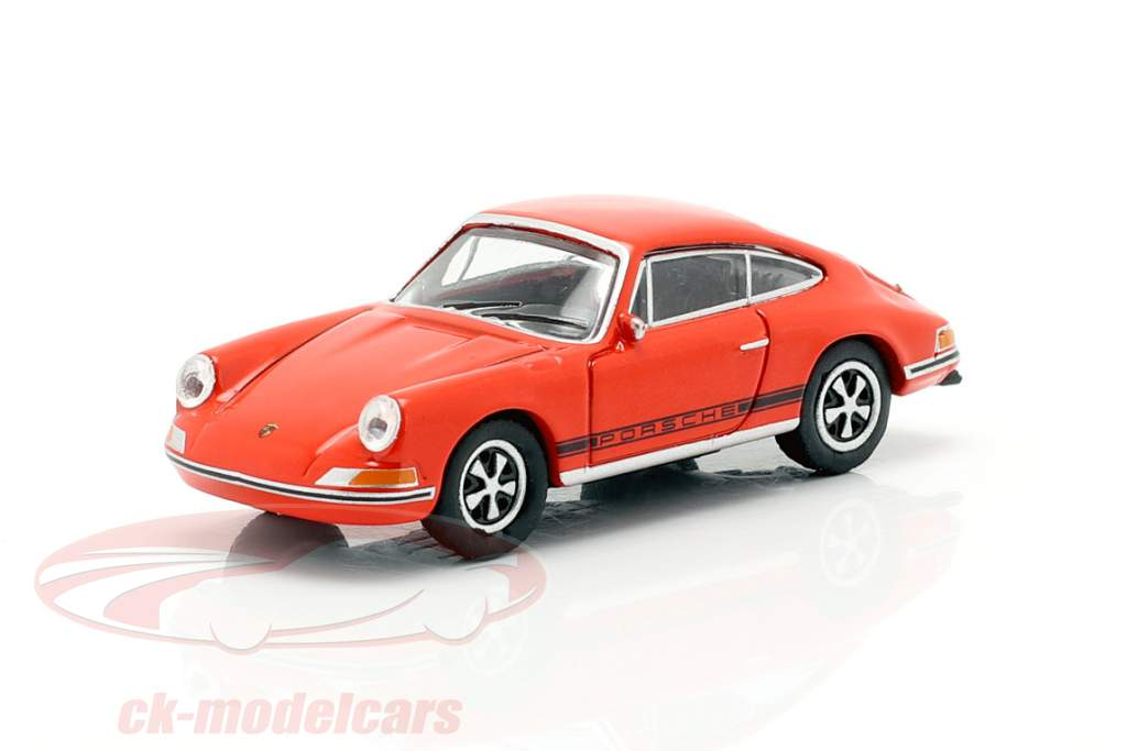 Porsche 911 S blod orange 1:87 Schuco