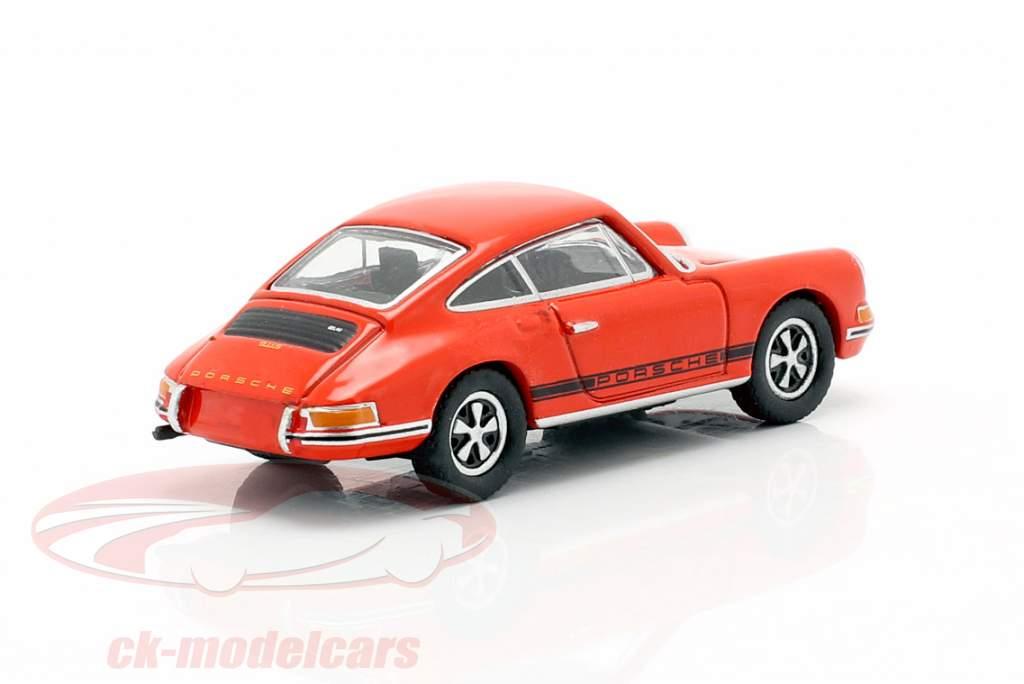 Porsche 911 S Orange sanguine 1:87 Schuco