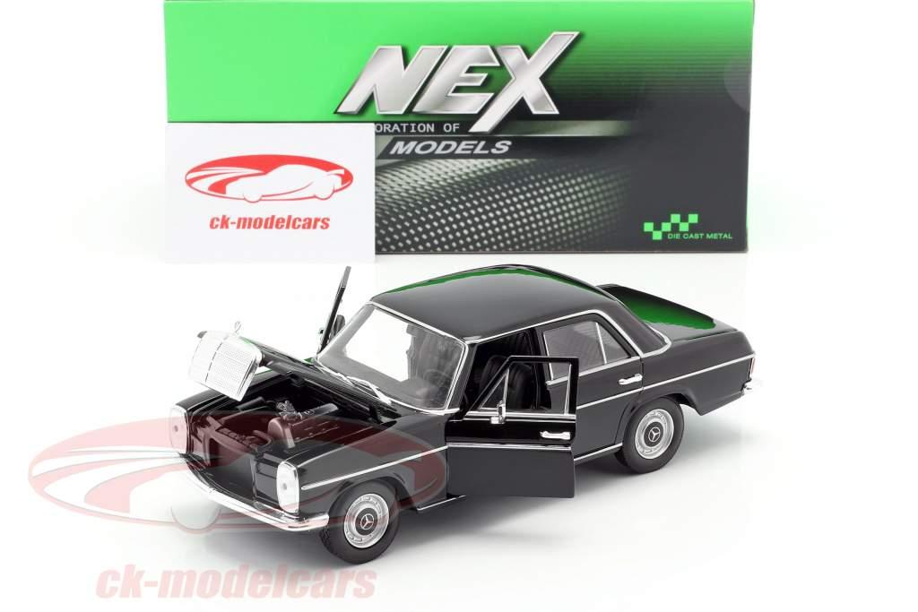 Mercedes-Benz 220/8 (W115) zwart 1:24 Welly