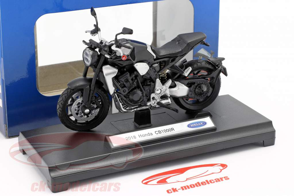 Honda CB 1000 R Byggeår 2018 sort 1:18 Welly