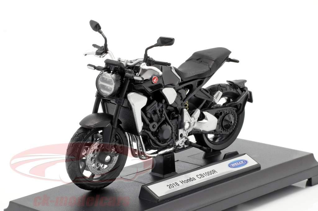 Honda CB 1000 R Anno di costruzione 2018 nero 1:18 Welly