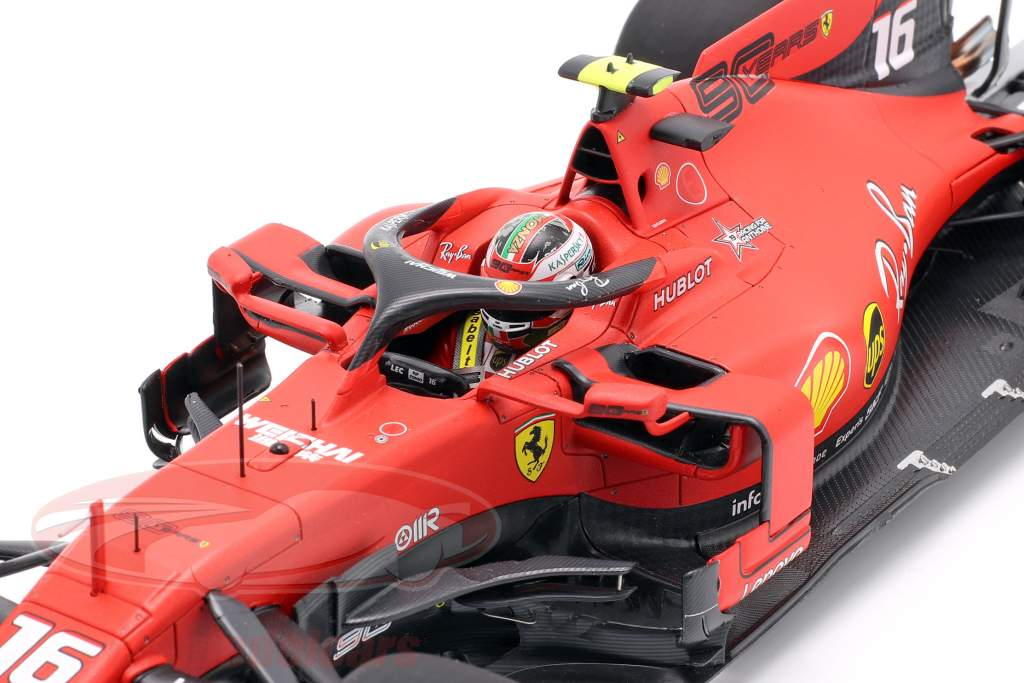 Charles Leclerc Ferrari SF90 #16 Gagnant italien GP formule 1 2019 1:18 BBR