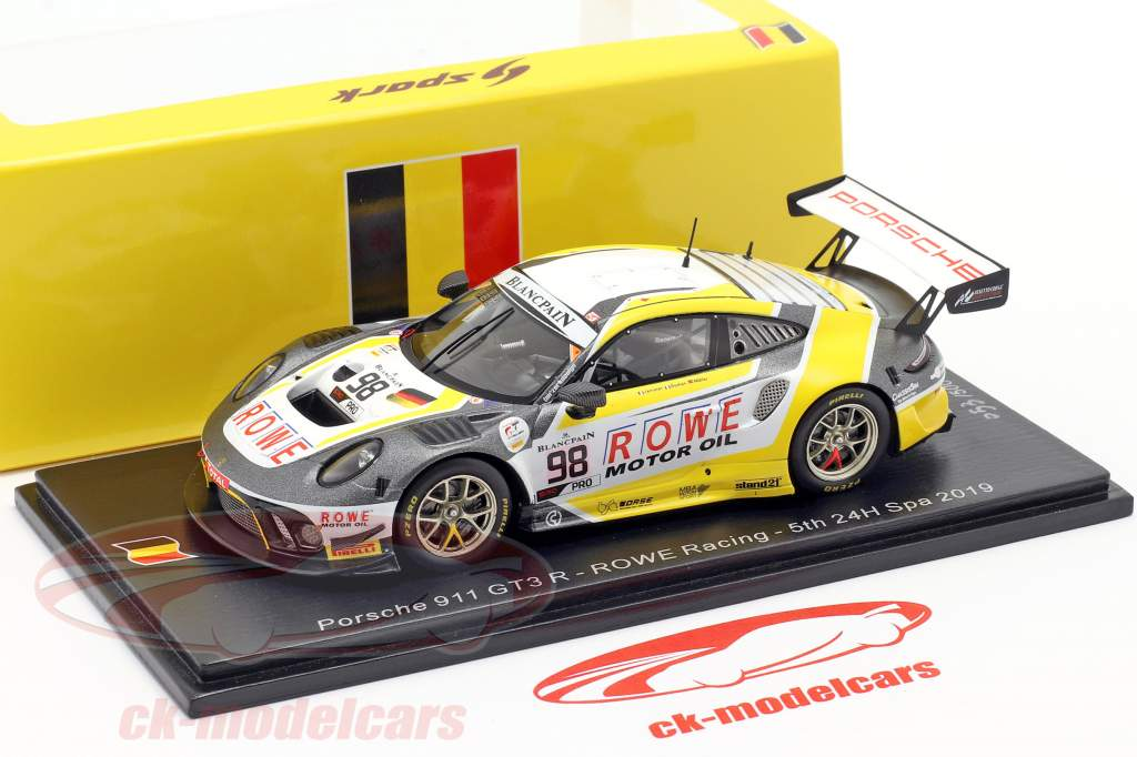 Porsche 911 GT3 R #98 5th 24h Spa 2019 Rowe Racing 1:43 Spark