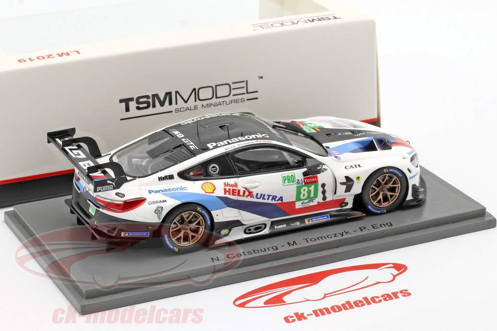 BMW M8 GTE #81 24h LeMans 2019 Catsburg, Tomczyk, Eng 1:43 TrueScale