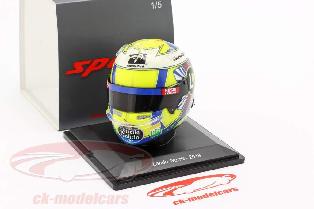 Lando Norris McLaren MCL34 #4 formel 1 2019 hjelm 1:5 Spark