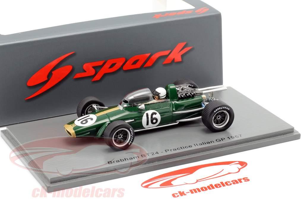 Jack Brabham Brabham BT24 #16 Øve sig italiensk GP formel 1 1967 1:43 Spark