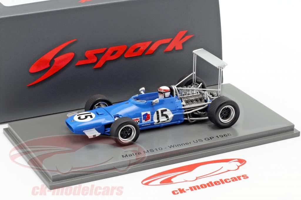 Jackie Stewart Matra MS10 #15 Ganador Estados Unidos GP fórmula 1968 1:43 Spark