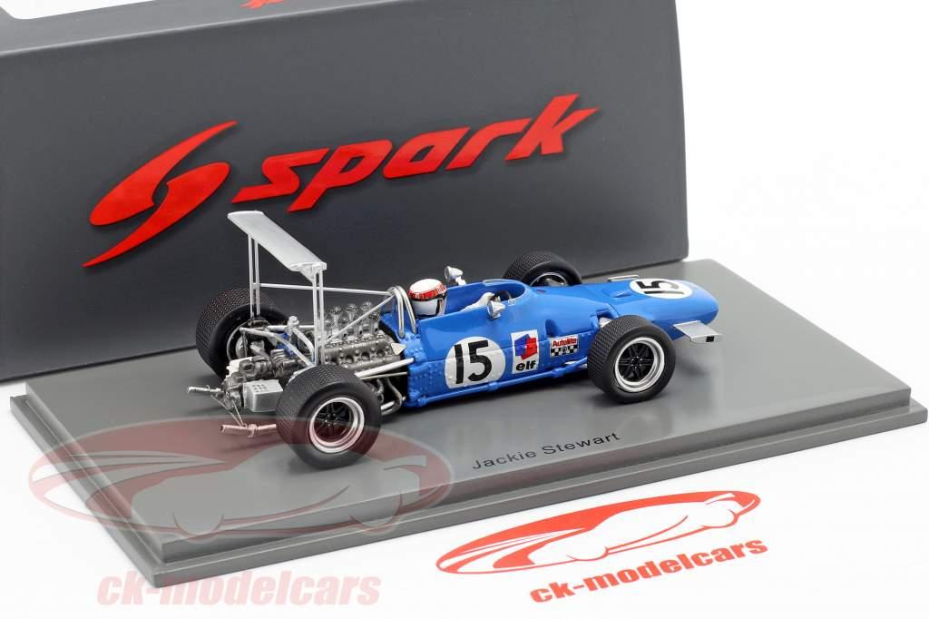 Jackie Stewart Matra MS10 #15 Vincitore stati Uniti GP formula 1968 1:43 Spark
