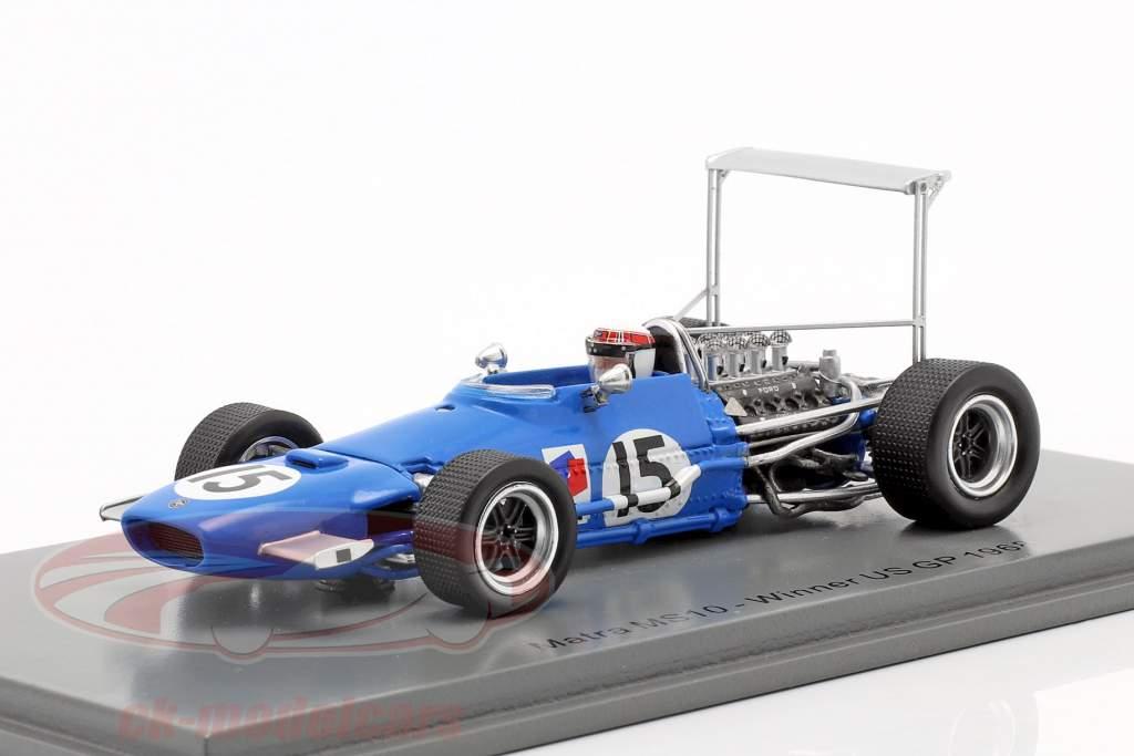 Jackie Stewart Matra MS10 #15 Winnaar Verenigde Staten GP formule 1968 1:43 Spark