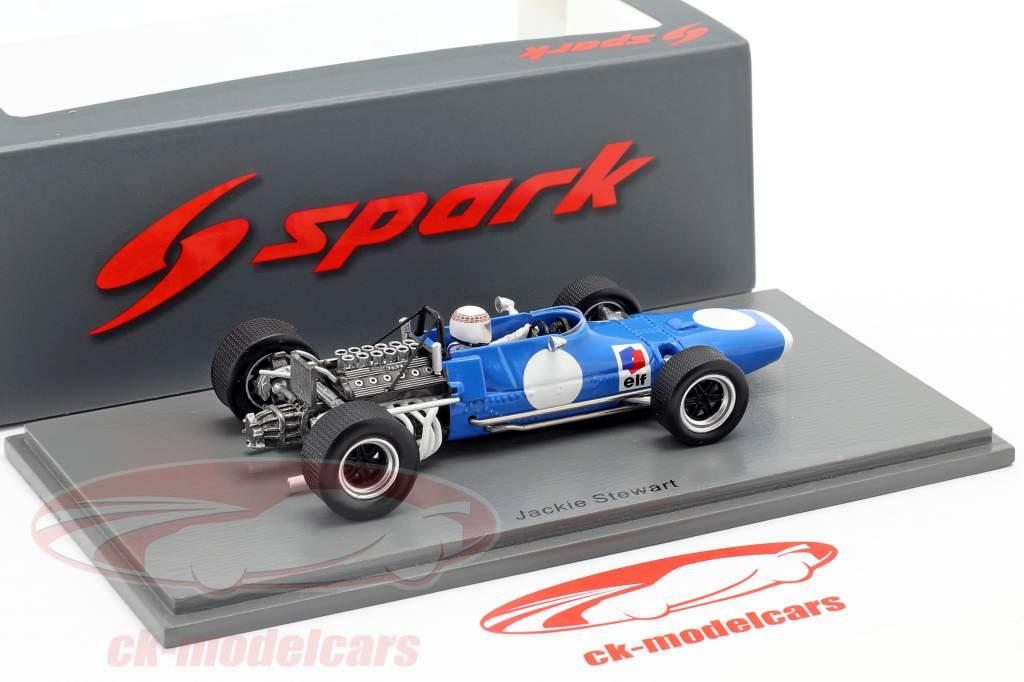 Jackie Stewart Matra MS11-12  test Albi formula 1 Campione del mondo 1969 1:43 Spark