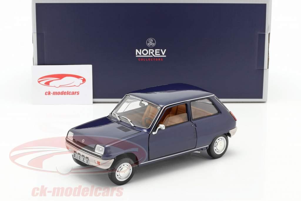 Renault 5 Anno di costruzione 1973 blu scuro 1:18 Norev