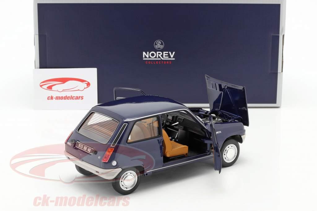 Renault 5 Ano de construção 1973 azul escuro 1:18 Norev