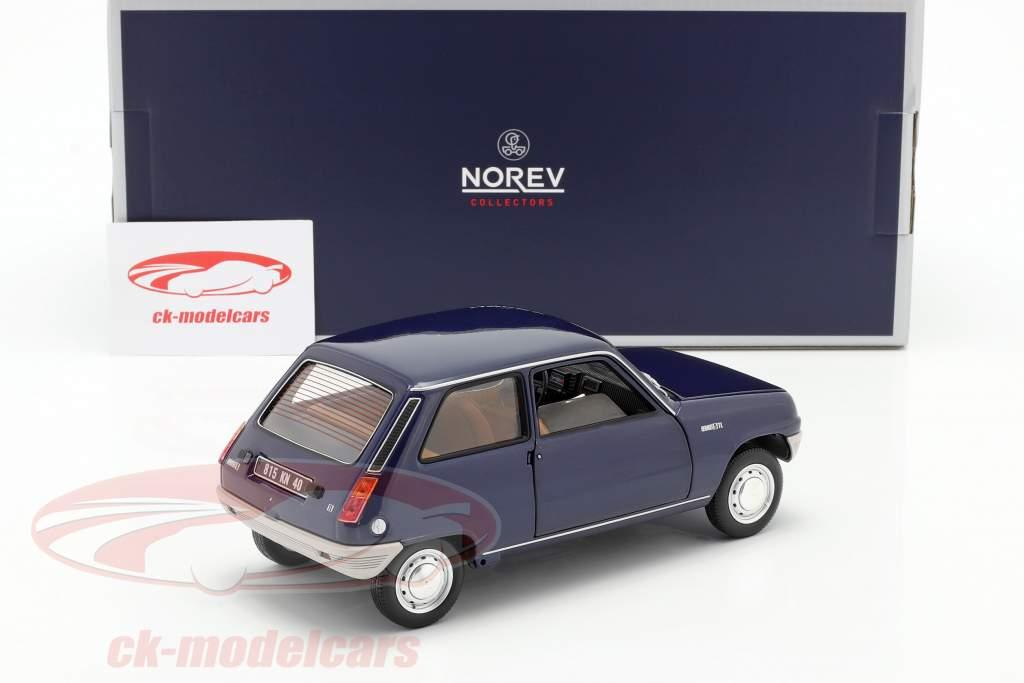 Renault 5 Byggeår 1973 mørkeblå 1:18 Norev