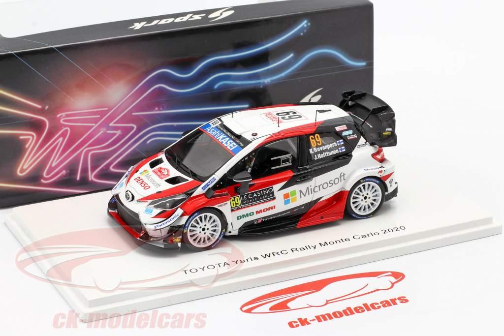 Toyota Yaris WRC #69 5 ° Rallye Monte Carlo 2020 Rovanperä, Halttunen 1:43 Spark