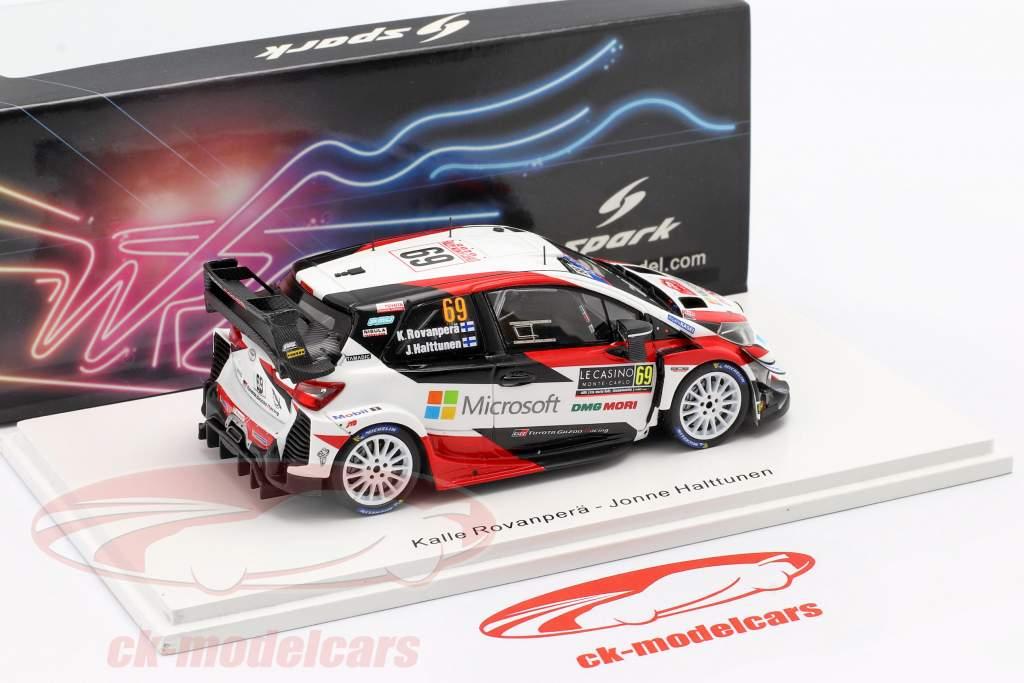 Toyota Yaris WRC #69 5e Rallye Monte Carlo 2020 Rovanperä, Halttunen 1:43 Spark