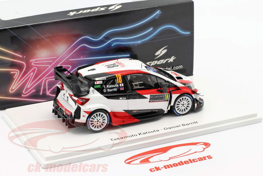 Toyota Yaris WRC #18 7e Rallye Monte Carlo 2020 Katsuta, Barritt 1:43 Spark