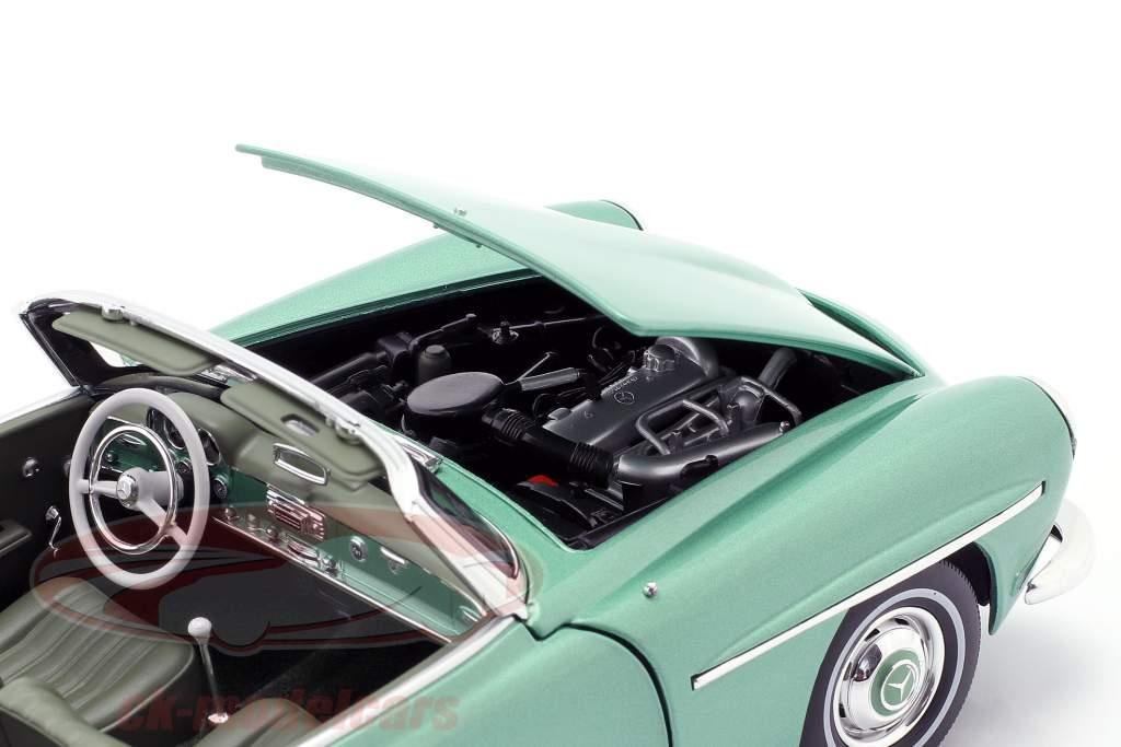 Mercedes-Benz 190 SL Baujahr 1957 hellgrün metallic 1:18 Norev