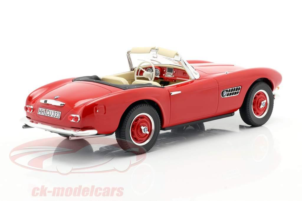 BMW 507 Cabriolet Byggeår 1956 rød 1:18 Norev