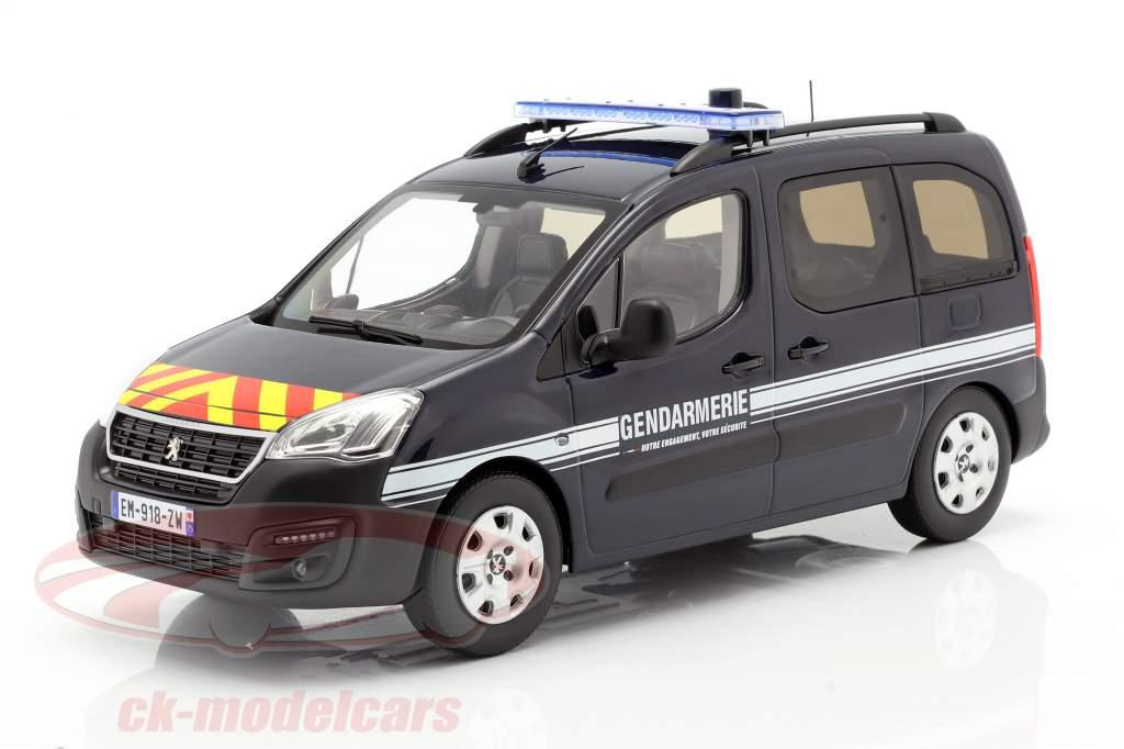 Peugeot Partner Gendarmerie Año de construcción 2018 azul oscuro 1:18 Norev