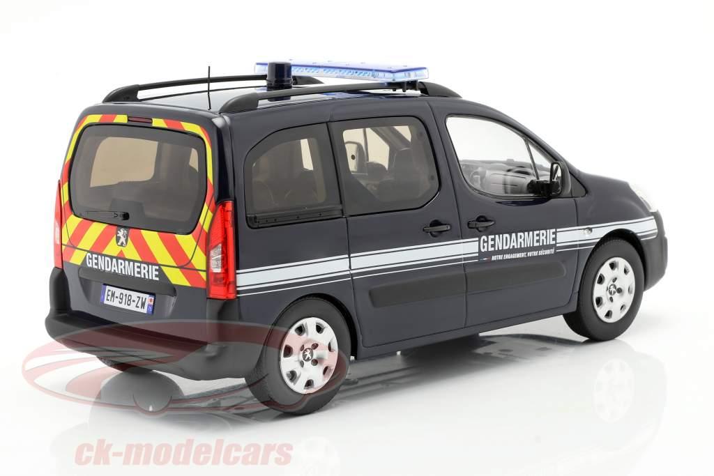 Peugeot Partner Gendarmerie Année de construction 2018 bleu foncé 1:18 Norev