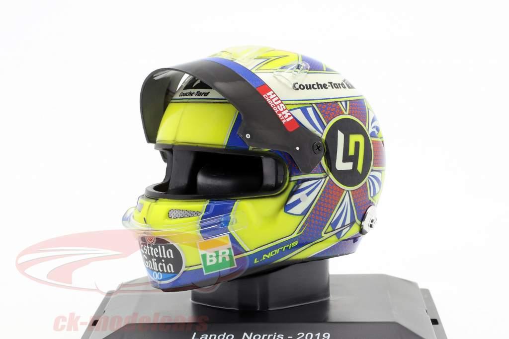 Lando Norris McLaren MCL34 #4 Fórmula 1 2019 capacete 1:5 Spark