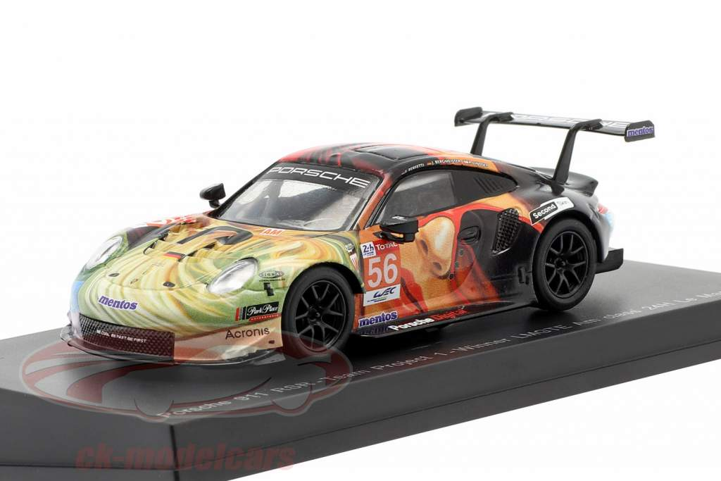 Porsche 911 RSR #56 vencedora LMGTE Am 24h LeMans 2019 Team Project 1 1:64 Spark