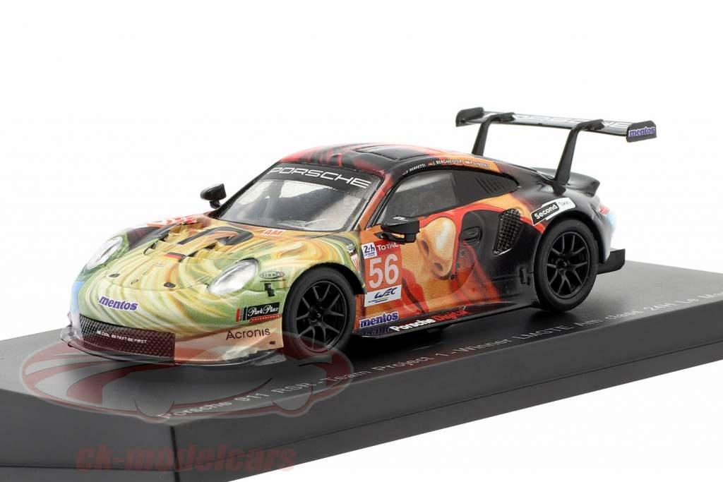 Porsche 911 RSR #56 winnaar LMGTE Am 24h LeMans 2019 Team Project 1 1:64 Spark