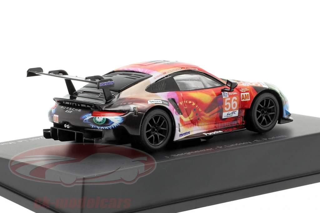 Porsche 911 RSR #56 winner LMGTE Am 24h LeMans 2019 Team Project 1 1:64 Spark
