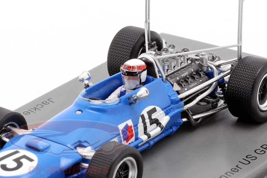 Jackie Stewart Matra MS10 #15 Gagnant États Unis GP formule 1968 1:43 Spark