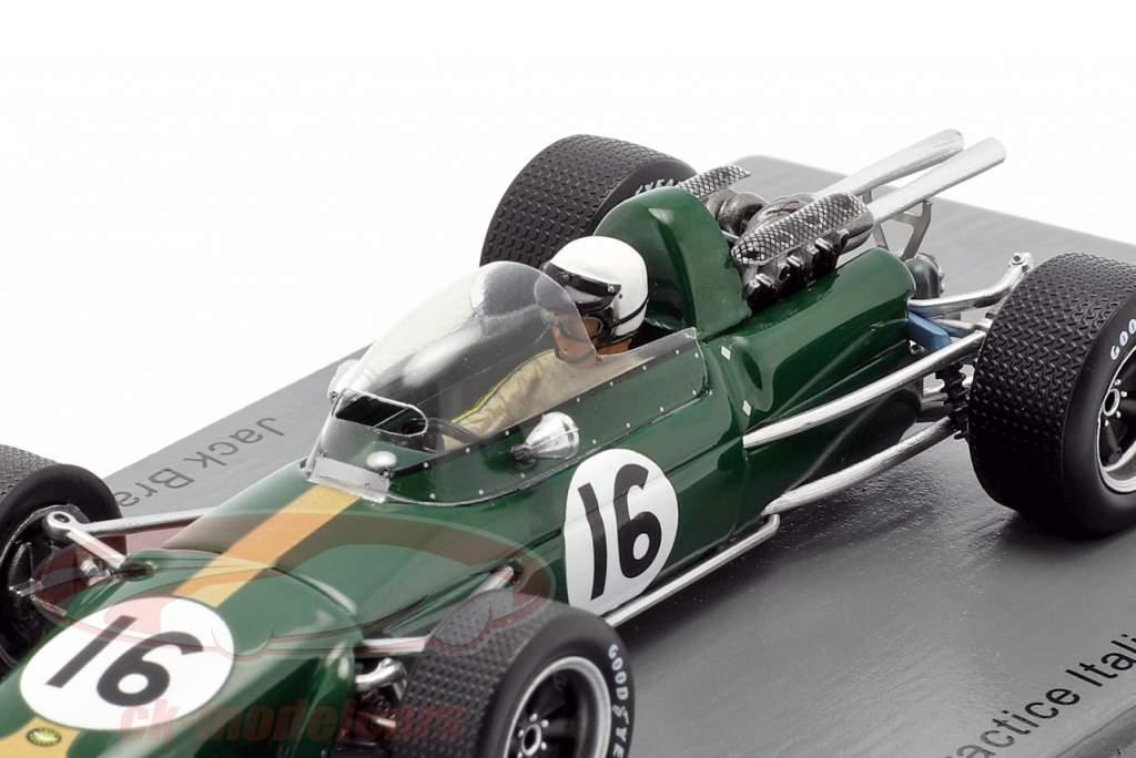Jack Brabham Brabham BT24 #16 Pratica italiano GP formula 1 1967 1:43 Spark