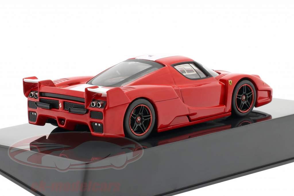 Ferrari FXX costruita nel 2006 rosso con striscia bianca Hotwheels Elite 1:43