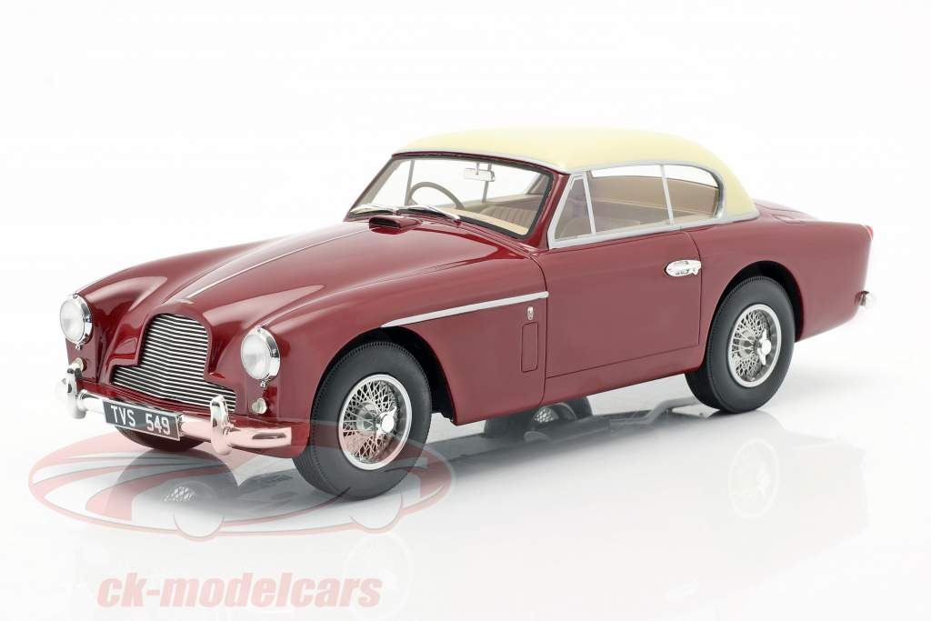 Aston Martin DB 2-4 MK II FHC Notchback 1955 rood / room Wit 1:18 Cult Scale