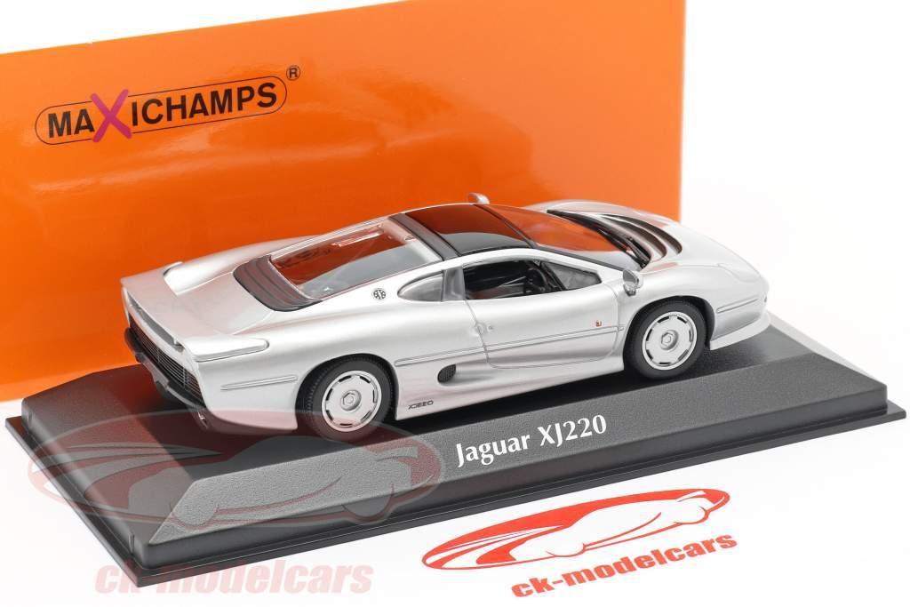 Jaguar XJ220 Año de construcción 1991 plata 1:43 Minichamps