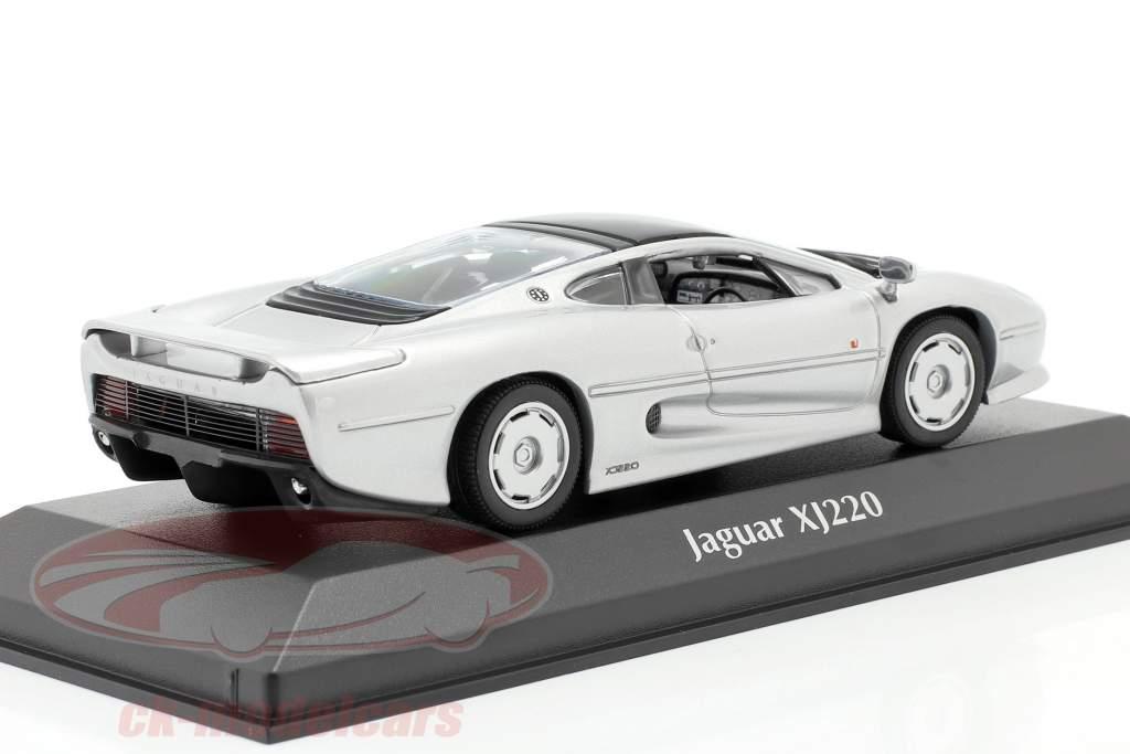 Jaguar XJ220 Bouwjaar 1991 zilver 1:43 Minichamps
