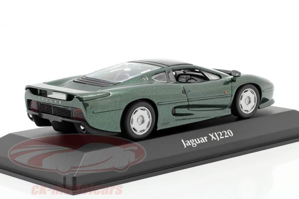 Jaguar XJ220 year 1991 dark green metallic 1:43 Minichamps