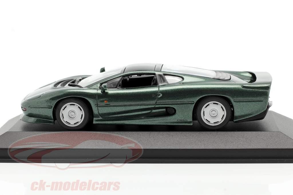 Jaguar XJ220 Byggeår 1991 mørkegrøn metallisk 1:43 Minichamps