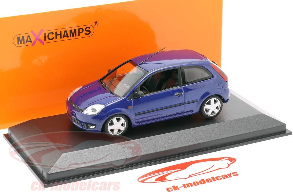 Ford Fiesta Byggeår 2002 blå metallisk 1:43 Minichamps