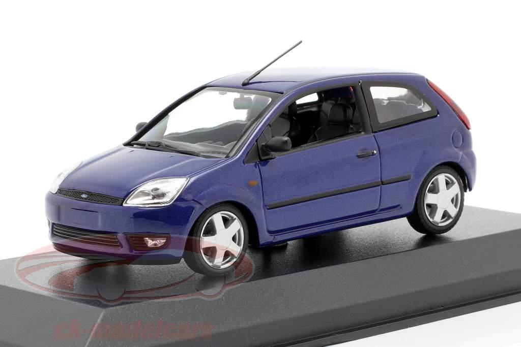 Ford Fiesta year 2002 blue metallic 1:43 Minichamps