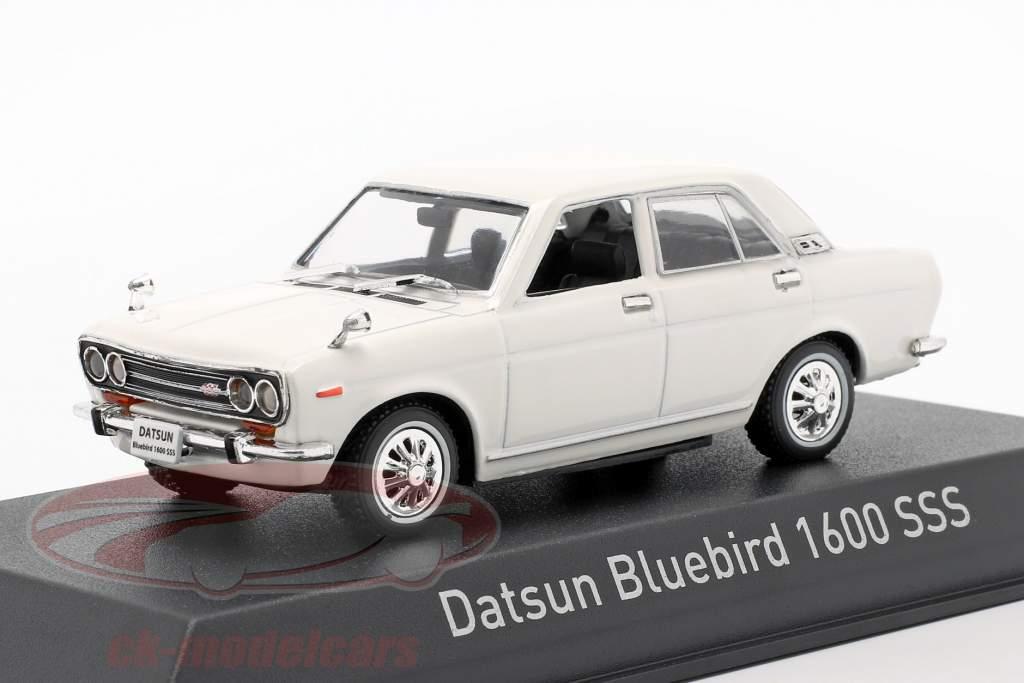 Datsun Bluebird 1600 SSS Année de construction 1969 blanc 1:43 Norev