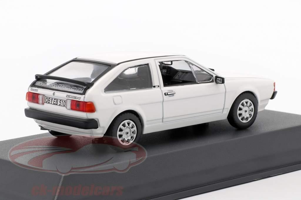 Volkswagen VW Scirocco II Année de construction 1981 blanc 1:43 Norev