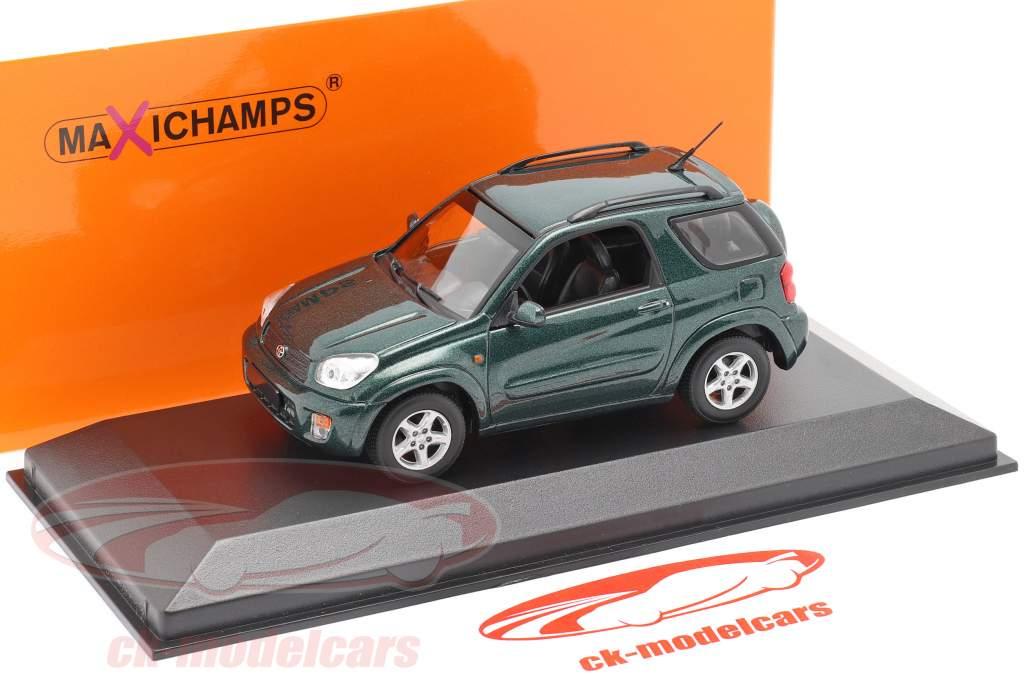 Toyota RAV4 Ano de construção 2000 verde escuro metálico 1:43 Minichamps